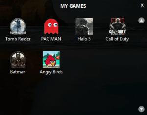 Game Fire 5 - My Games widget
