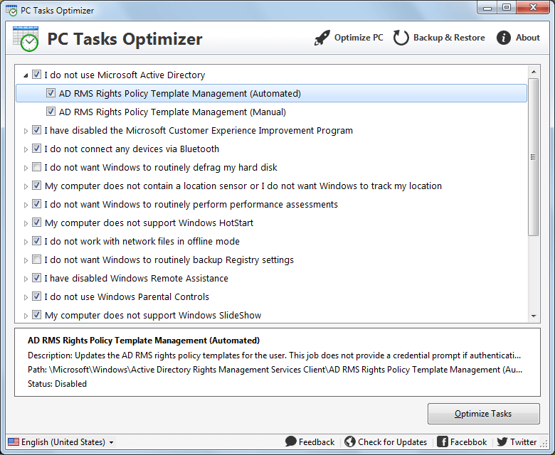 PC Tasks Optimizer
