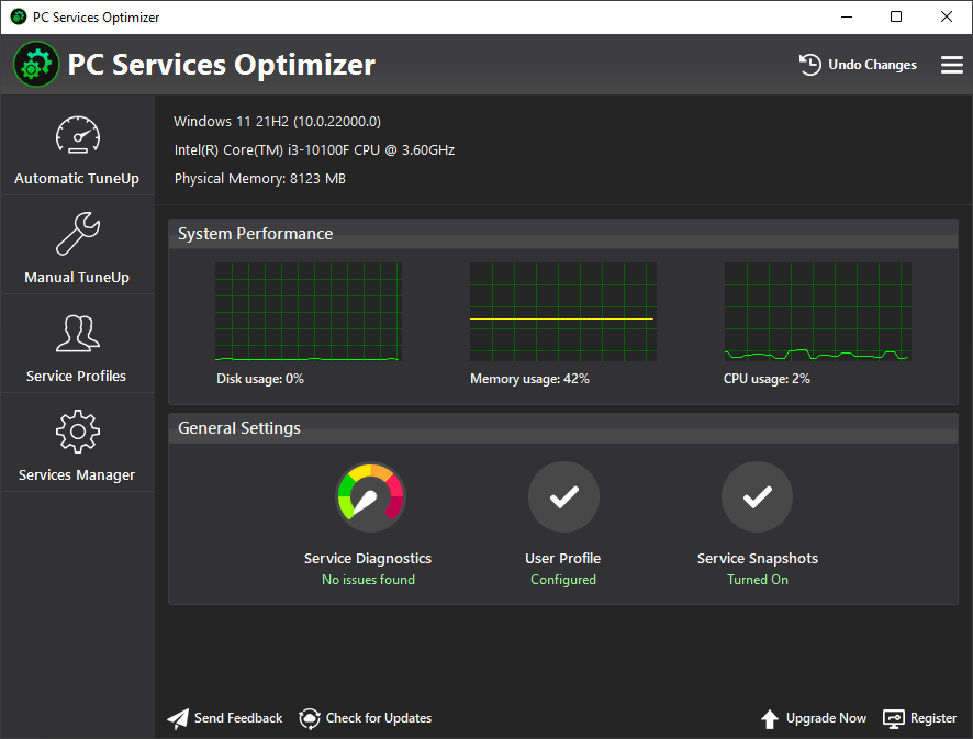 easy service optimizer portable