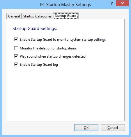 Startup Master - Settings
